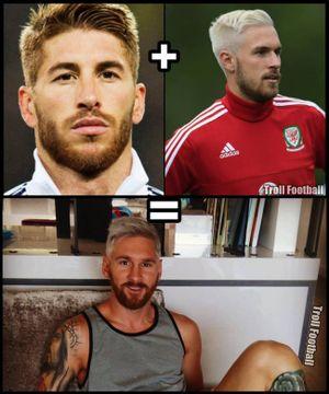 Messi không phải là người nghĩ ra kiểu tóc nhuộm 'dân chơi' khiến anh phải nhận 'mưa gạch'