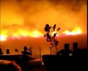 Cháy lớn như ngày tận thế gần căn cứ quân sự NATO