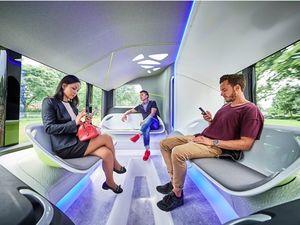 Choáng ngợp trước vẻ đẹp của chiếc xe bus tương lai của Mercedes