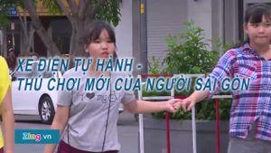 Xe điện tự hành tràn ngập phố đi bộ Nguyễn Huệ