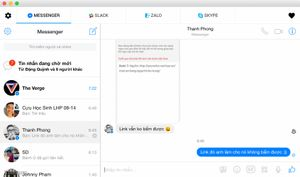 [Win / Mac] All-in-One Messenger: chat Facebook, Skype, Slack, Zalo, Hangouts... chung một nơi