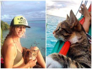 Câu chuyện về cô gái Mỹ du lịch vòng quanh thế giới cùng mèo cưng