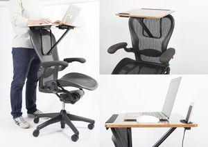[Kickstarter] StorkStand 2 - chiếc bàn di động tận dụng ghế văn phòng làm bệ đỡ