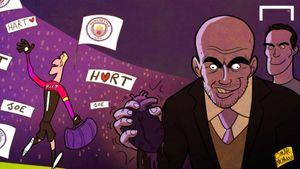 Biếm họa Pep Guardiola và ngày tàn của Joe Hart