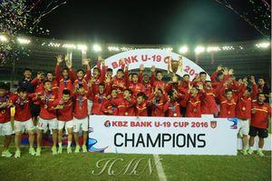 U.19 Việt Nam vô địch giải giao hữu U.19 KBZ Bank Cup 2016