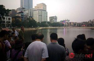 Bơi ra giữa hồ Ngọc Khánh tắm, một thanh niên tử vong