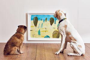 Đến chó cũng được thưởng thức nghệ thuật