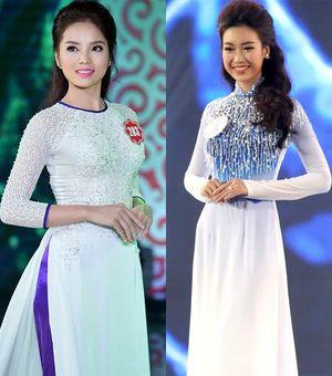 """""""Đọ"""" nhan sắc giữa Hoa hậu Mỹ Linh và Hoa hậu Kỳ Duyên"""