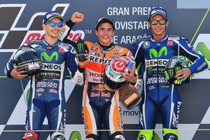GP Aragon 2016: Marquez thắng sân nha, bỏ xa Rossi