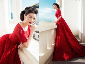Những chiếc váy đỏ tuyệt đẹp, nhìn là mê của Lý Nhã Kỳ