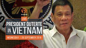 Chuyên cơ Tổng thống Philippines Duterte vừa hạ cánh Nội Bài