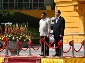 Chủ tịch nước Trần Đại Quang tiếp Tổng thống Philippines