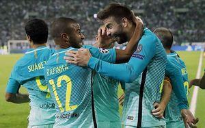 Barca lội ngược dòng trước Gladbach trong ngày thiếu vắng Messi