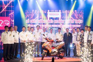 Chiếc xe máy thứ 20 triệu của Honda Việt Nam xuất xưởng