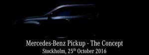 Teaser về mẫu xe pick-up của Mercedes-Benz; 25/10 ra mắt ở Stockholm