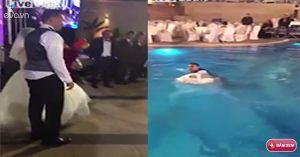 Video: Cô dâu, chú rể nắm tay nhau nhảy xuống hồ trong đám cưới