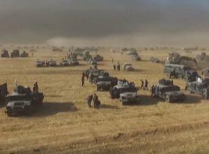 Xem quân đội dàn trận chuẩn bị tấn công vào Mosul