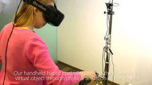 """Công nghệ thực tế ảo có thể """"sờ tận tay"""""""