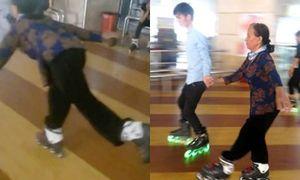 Cụ bà 80 tuổi trượt patin điệu nghệ khiến giới trẻ tròn mắt