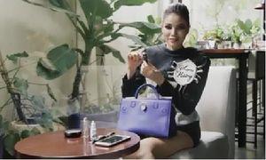 Bất ngờ bên trong túi xách của Hoa hậu Phạm Hương
