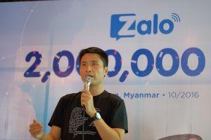 Sau 4 tháng, Zalo đạt mốc 2 triệu người dùng ở Myanmar