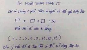 Đáp án bài toán 'tìm người thông minh'