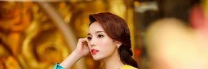 Eo thon quyến rũ với áo dài của sao Việt