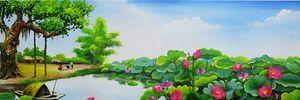 Thế giới đầy màu sắc trong triển lãm tranh hoa đất Việt-Hàn