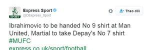 NÓNG: Ibrahimovic đã được chốt số áo ở Man Utd?