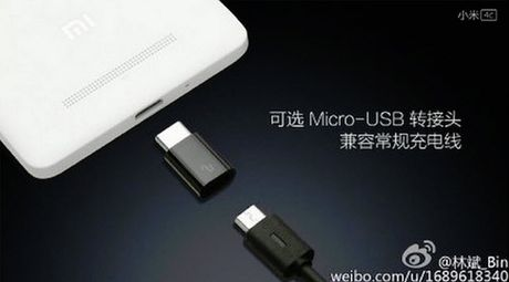 Xiaomi Mi 4c sẽ sử dụng được cả cổng MicroUSB và USB-C