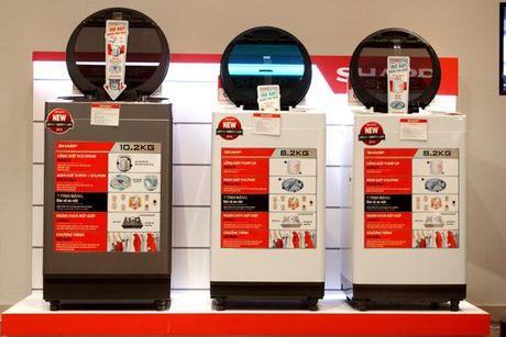 Sharp Việt Nam giới thiệu máy giặt lồng giặt khổng lỗ