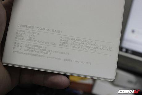 Mo hop pin sac Xiaomi 10.000 mAh phien ban 2016: Mong manh, sac ra vao cuc nhanh, tang cong chuyen USB Type-C - Anh 6
