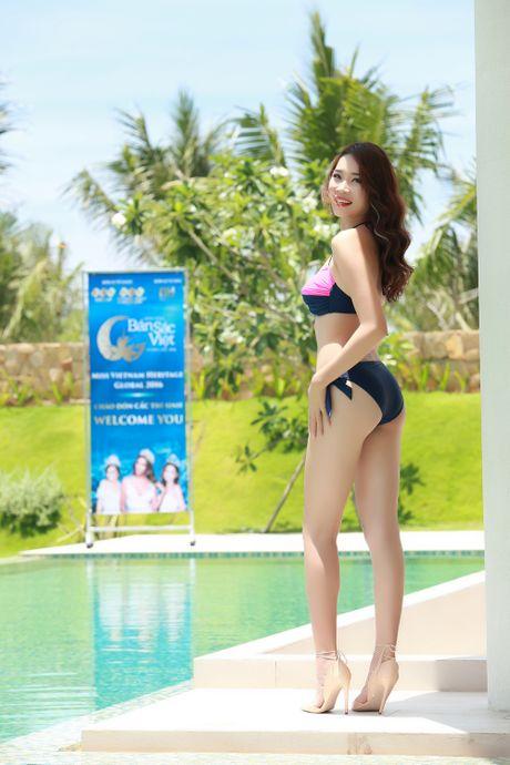 Nguoi dep co chieu cao 'khung nhat Vinh Bac Bo' tai Hoa hau Ban sac Viet - Anh 3