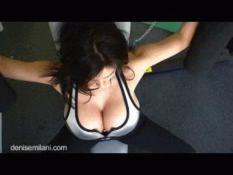Dau tim nhin chi em tap gym - Anh 5