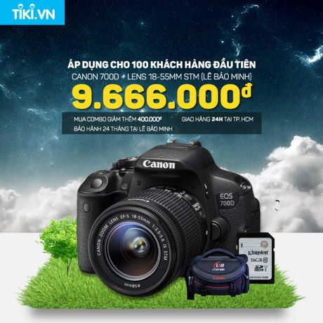 Canon 700D + Lens 18-55mm STM Chinh Hang Le Bao Minh Chi Con 9.666.000d - Anh 1