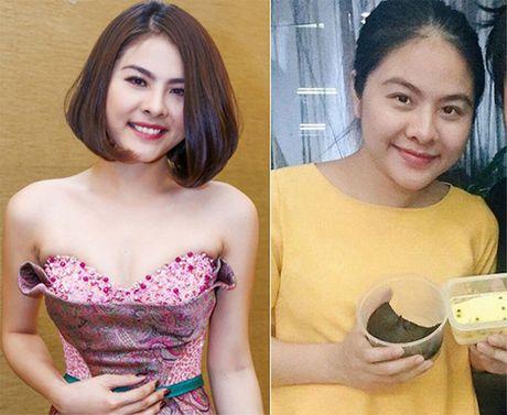 Nhan sac 'xuong doc khong phanh' vi tang 20-30kg khi bau bi cua sao Viet - Anh 7