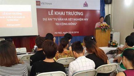 Khai truong Du an Tu van va Xet nghiem HIV tai cong dong - Anh 1