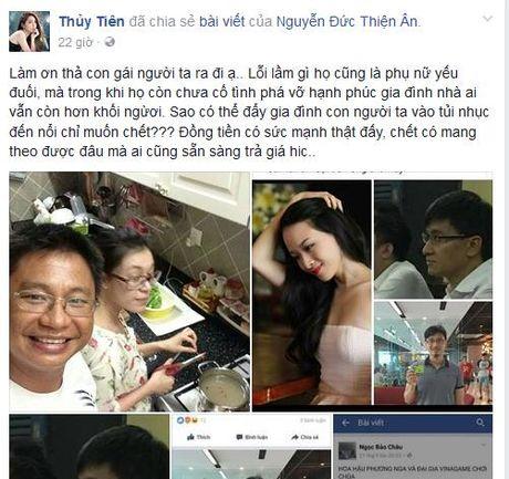 Thuy Tien benh vuc Hoa hau Phuong Nga - Anh 1