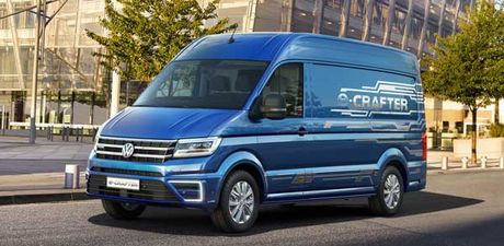 Volkswagen gioi thieu xe van chay dien e-Crafter - Anh 1