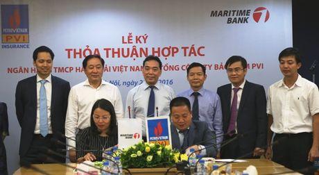 Bao hiem PVI va Maritime Bank ky thoa thuan hop tac toan dien - Anh 1