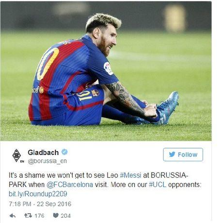Messi gui loi cam on den cac CDV Borussia Monchengladbach - Anh 2