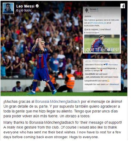 Messi gui loi cam on den cac CDV Borussia Monchengladbach - Anh 3