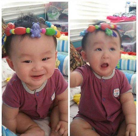 He lo nhung hinh anh it biet ve chong va con 'be' Xuan Mai - Anh 3