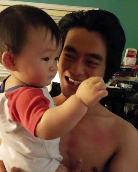 He lo nhung hinh anh it biet ve chong va con 'be' Xuan Mai - Anh 5