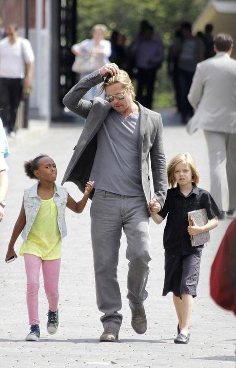 Angelina Jolie khong muon Brad Pitt bi buoc toi bao hanh tre em - Anh 3