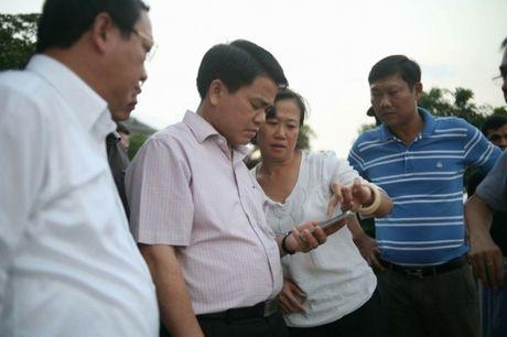Chu tich Nguyen Duc Chung thi sat tim hieu hien tuong ca chet hang loat o ho Tay - Anh 1