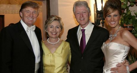 Donald Trump lai tuyen bo soc, cao buoc ba Hillary Clinton khong chung thuy voi chong - Anh 1