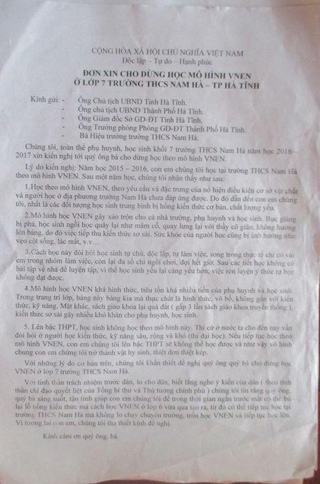 Phu huynh khan khoan xin cho con dung hoc VNEN - Anh 1