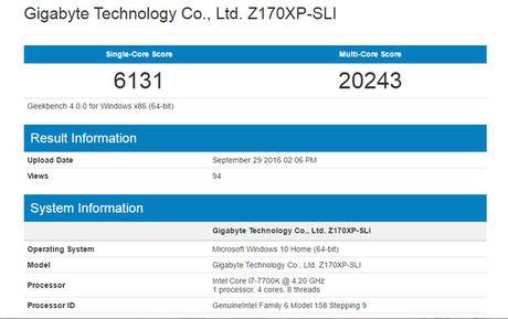 Intel Core i7-7700K manh hon 40% so voi the he truoc do - Anh 2
