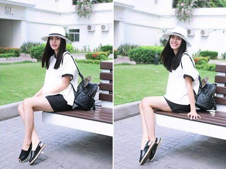 Thanh Hang lang xe ao khoac mua thu, Toc Tien 'ru' Luu Huong Giang dien do dong dieu - Anh 14